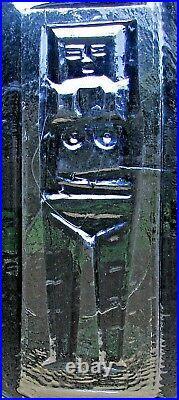 Rare large grey Erik Hoglund Glass Plaque for Kosta Boda nude woman