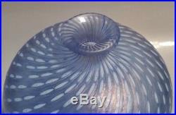 SIGNED KOSTA BODA BERTIL VALIEN 48436 PALE BLUE GLASS VASE With COILING DESIGN