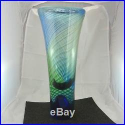 Schöne Kosta Boda Ann Wärff art glass vase ca. 41 cm hoch