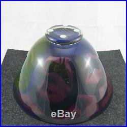 Schöne Kosta Boda Bertil Vallin Atelier art glass Schale 1992 Schweden