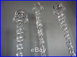 Set of 3 CYPRESS Swirl Glass Candle Holders by Ann Wahlstrom Kosta Boda Sweden