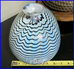 Signed 10 Kosta Boda APHRODITE Egg Vase Bertil Vallien Iridescent #48535 MINT