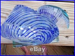 Signed 1980 JAMES CLARKE Studio Art Glass Cut Faceted Paperweight SCULPTURE
