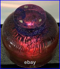 Signed GORAN WARFF KOSTA BODA SWEDEN Glass Bowl with Clear Foot, H 4