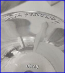 Signed GORAN WARFF KOSTA BODA SWEDEN Vase Blue Solid Glass Globe, H6 1/4