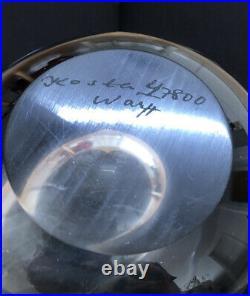 Signed GORAN WARFF KOSTA BODA Vase Drop Mid Century Clear Glass SWEDEN, H 8
