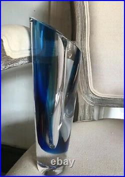 Signed KOSTA BODA Seaside Glass Vase