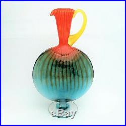 Signed Kosta Boda Glass Bon Bon Carafe/Jug/Ewer #89066 by K. Engman