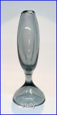 Signed Large VICKE LINDSTRAND KOSTA BODA Vase Smoke Glass SWEDEN, 1950s