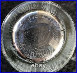 Signed RARE VICKE LINDSTRAND KOSTA BODA Vase Mid Century Etched Glass, H8 1/4