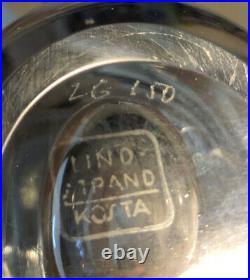 Signed Thickwall VICKE LINDSTRAND KOSTA BODA Engraved Wading Lady Glass Vase