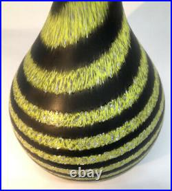 Signed ULRICA HYDMAN VALLIEN KOSTA BODA Vase Don Juan Glass Serie Sweden, H 14