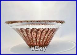 Signed Vicke Lindstrand Kosta art glass bowl sculpture