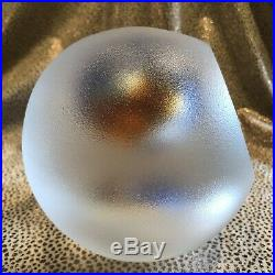Signed Vintage Kosta Boda Glass Illusion Orb Sphere Sculpture Paperweight