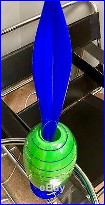 Spectacular Art Glass Sculpture Vase By Anna Ehrner For Kosta Boda 23 In Tall