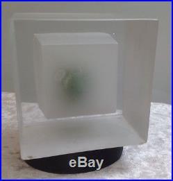 Stunning Kjell Engman Snapshot Bird Kosta Boda Glass Sculpture 7090232