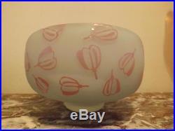Stunning Kosta Boda Signed Olle Brozen Floating Flower Bowl, Vase, Centerpiece