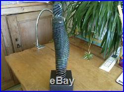 Stunning Signed Ltd Edt Bertil Vallien Kosta Boda Art Glass Figure Sculpture