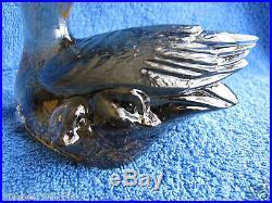 Sweden Kosta Boda Paul Hoff duck Anser Erythropus art glass figurine WWF animals