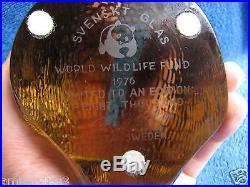 Sweden Kosta Boda Paul Hoff glass figurine hedgehog WWF animals sculpture 1976