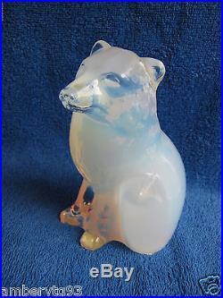 Sweden Kosta Paul Hoff glass polar arctic fox figurine figure WWF animal limited