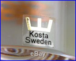 Three art glass figures'family', Kosta Boda, Sweden