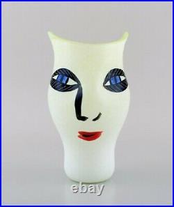 Ulrica Hydman Vallien for Kosta Boda, Sweden. Vase in mouth blown art glass