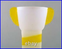 Ulrica Hydman Vallien for Kosta Boda. Unique vase in mouth blown art glass 1980s
