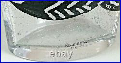 Ulrica Hydman-vallien For Kosta Boda Kaboka Fish Vase 10.5 Tall Exc Cond