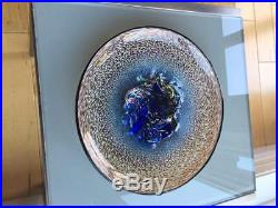 Uncommon Kosta Boda Large 11 Blue Centerpiece platter Meteor by Vallien superb