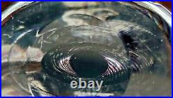 VICKE LINDSTRAND KOSTA 1950s Mid-Century MCM 8.5 Heavy SPIRAL Vase sign LH 1383