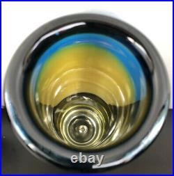 VICKE LINDSTRAND KOSTA BODA SWEDEN Signed Glass Vase Air Bubble, H 9 1/2