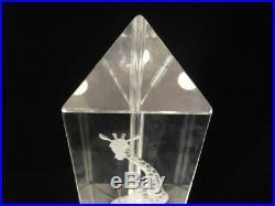 VICKE LINDSTRAND Signed PRISMATIC Clear Art Glass GIRAFFE Sculpture for KOSTA