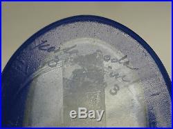 VINTAGE 60s BERTIL VALLIEN KOSTA BODA 8 GLASS VASE COBALT BLUE SHADE 48703