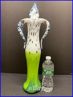 VTG KOSTA BODA My Wide Life Anatomic Orchid Vase Signed By L. Lofgren 20 Tall