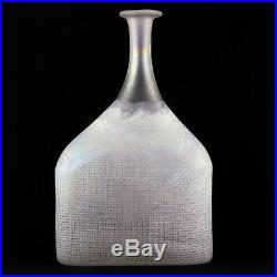 Vase Bouteille BERTIL VALLIEN Verre KOSTA BODA Sweden, Design 20th 70/Art Glass