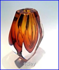 Ventana Vase by Mona Morales-Schildt Kosta Studio Art Glass Scandinavia Signed