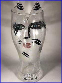 Very Rare Kosta Boda Ulrica Hv 12 3/4 Clear Bubble Glass Vase Open Minds