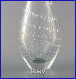 Vicke Lindstrand for Kosta Boda art glass vase. 1960's