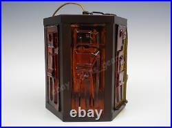 Vintage 1950s/1960s copper hanging lantern ceiling light Erik Hoglund kosta boda