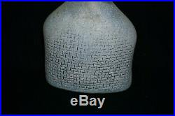 Vintage 70s BODA Network Bottle Vase Bertil Vallien Signed Numbered 6.25 H