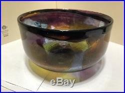 Vintage Ann Warff Acid Etched Bowl For Kosta Boda Seal Motifs
