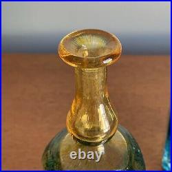 Vintage Antikva Kosta Boda Glass Bottles by Bertil Vallien Vases Scandinavian