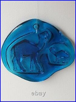 Vintage Erik Hoglund Kosta Boda Art Glass Camel Suncatcher MCM Danish Modern