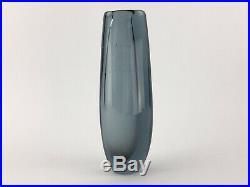 Vintage KOSTA BODA Blue Gray Art Glass Modernist Vase