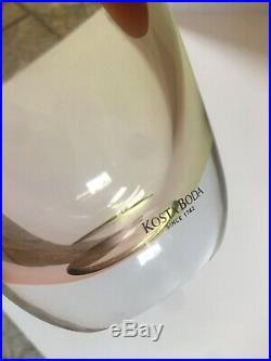 Vintage Kosta Boda 20 Kjell Engman Tobago Large Bottle Glass Vase 1980s