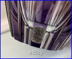 Vintage Kosta Boda 7 Elis Bergh Crystal Thick Heavy Vase