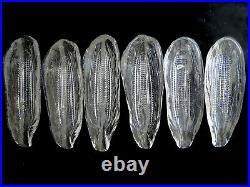 Vintage Kosta Boda Crystal Corn Dishes by Goran & Ann Warff Sweden Set of 6