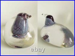 Vintage Kosta Boda Glass Crystal Bird by Bertil Vallien Rare! 500 made / iittala