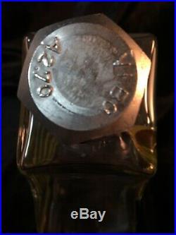 Vintage Kosta Boda Kjell Engman Art Glass Macho Decanter Clear, Red Yellow Swirl